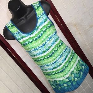 New direction sleeveless top ribbon back size med